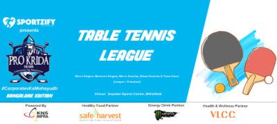 ProKrida Bangalore Table Tennis League