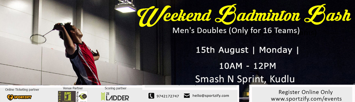 Weekend Badminton Bash - August - Smash N Sprint