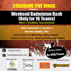 Weekend Badminton Bash-HSR Layout