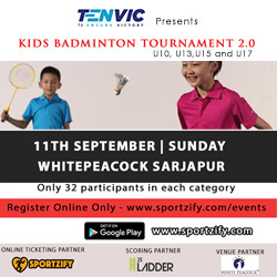 TENVIC Kids Singles Badminton Tournament: September