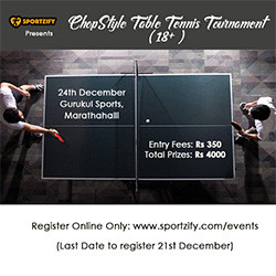 ChopStyle Table Tennis Tournament (18+)