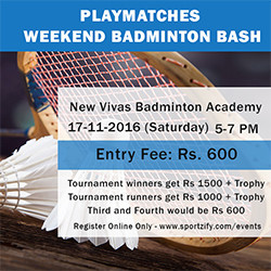 Playmatches Weekend Badminton Bash (Mens Doubles)