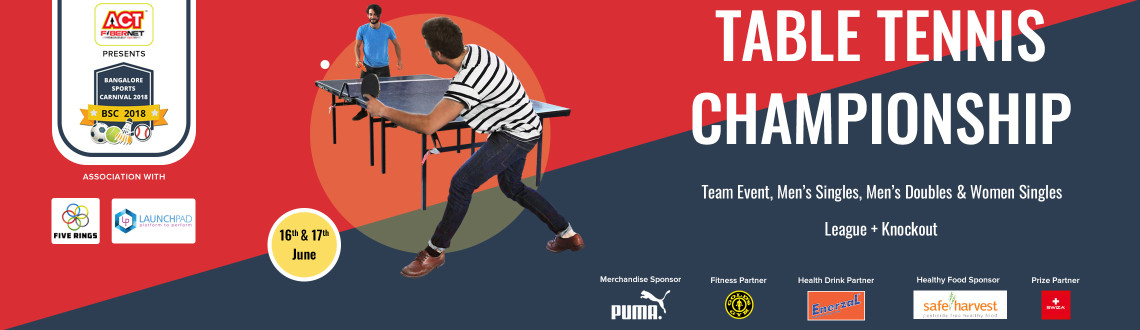 Adults Table Tennis Championship - BSC2018